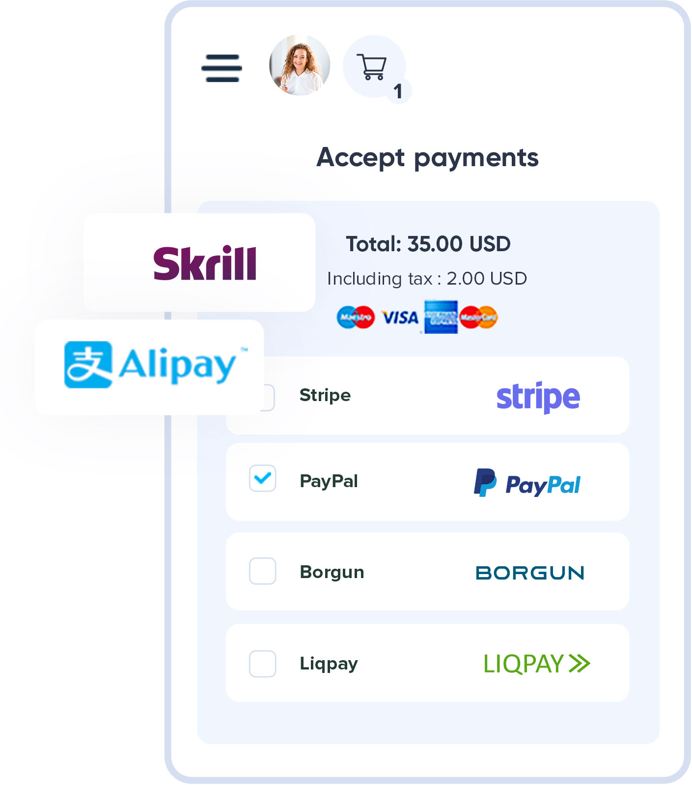 Accept payments image