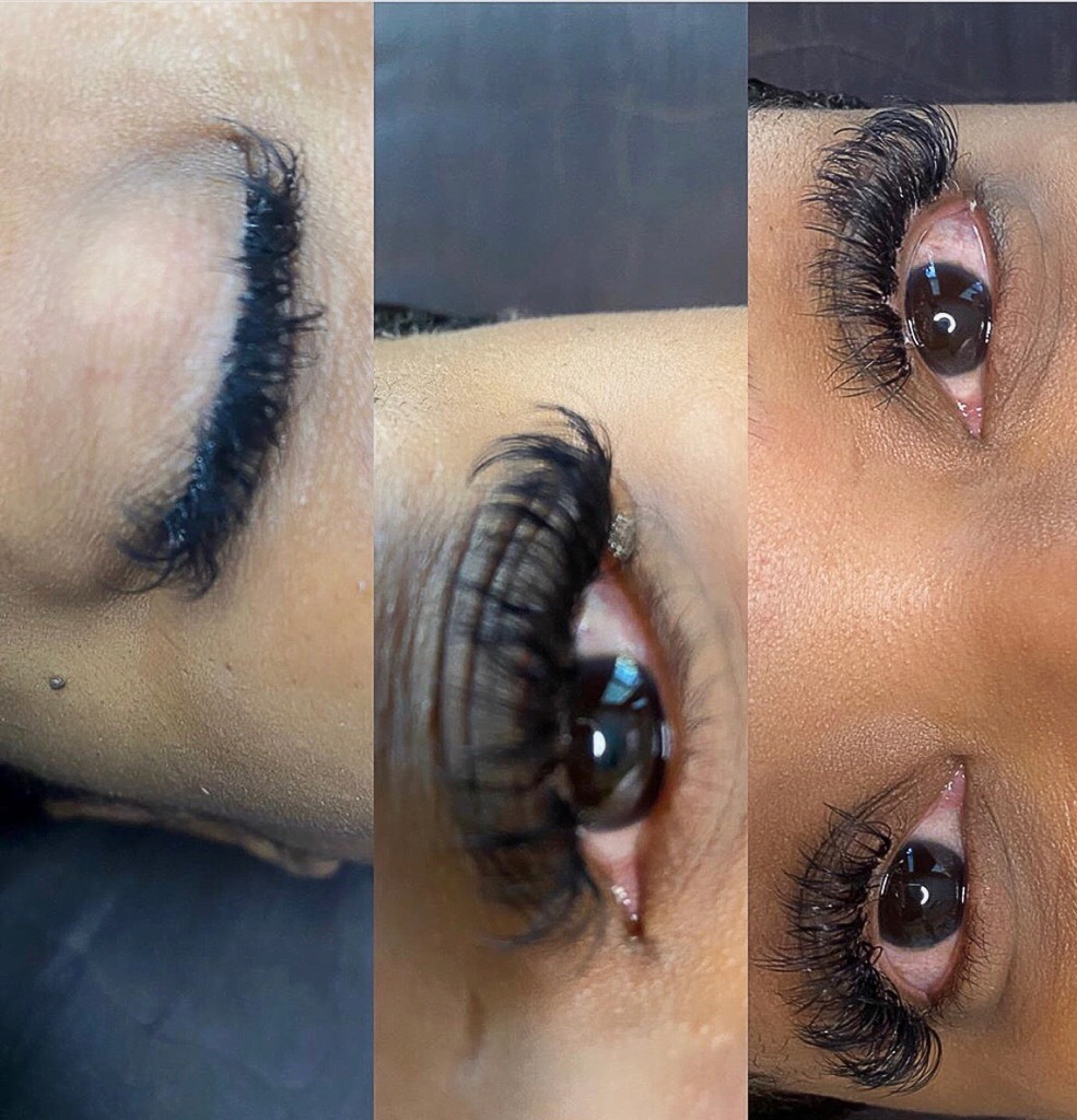 Quick Hybrid Lash Set.  Book today with service provider KELL! We will see you soon!