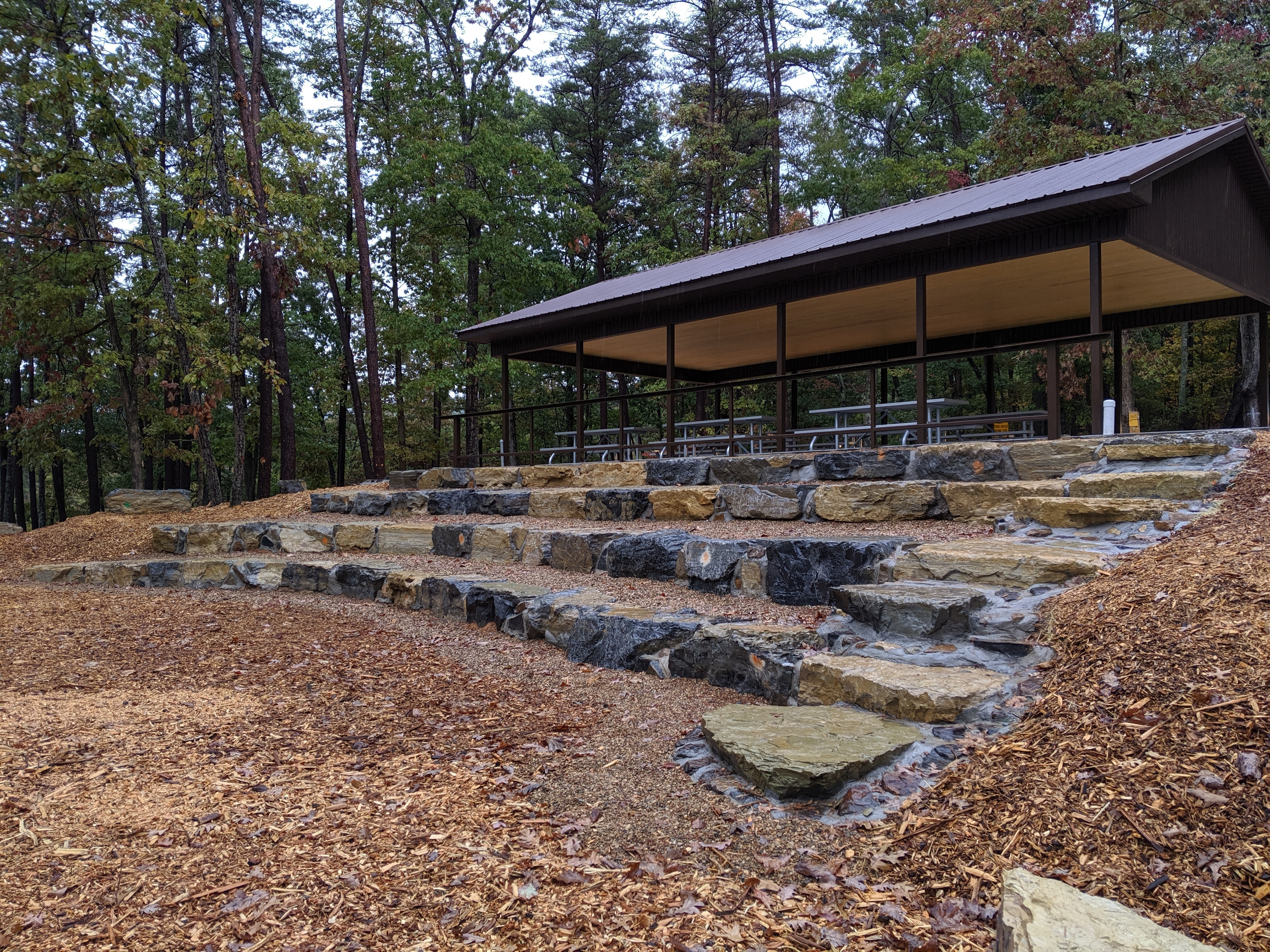 ADA accessible large picnic shelter and amphitheater