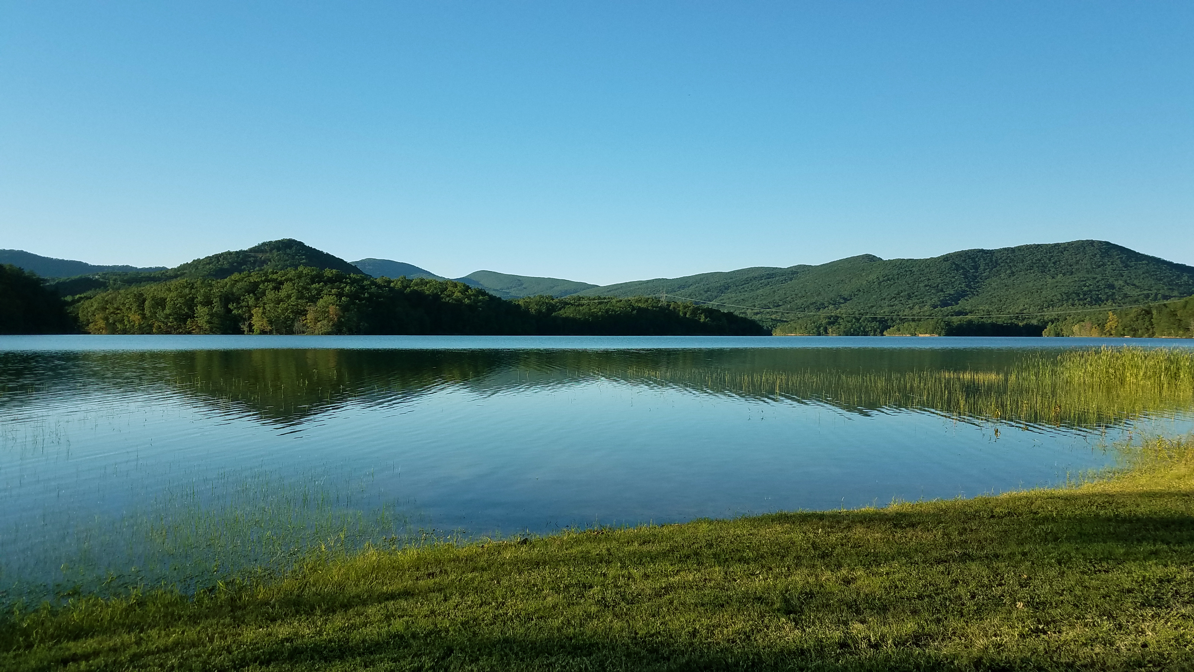 Carvins Cove Reservoir reached full pond in 1946 and impounds 6.5-billion gallons of water.  It is the primary source of drinking water for the Roanoke Valley.